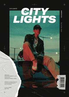Baekhyun of EXO first solo album City Lights Graphic Design Posters, Graphic Design Typography, Graphic Design Inspiration, Kpop Posters, Movie Posters, Poster Layout, Media Design, City Lights, Magazine Design