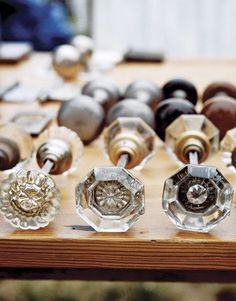 Vintage Glass Doorknobs -