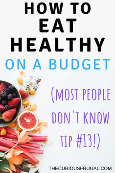 Healthy food doesnt have to be expensive. You can save so much money while you are still eating healthy delicious food. There are genius tips in this post (bet you dont know tip Check out these practical and creative tips on how to eat healthy on a budget Healthy Eating Habits, Healthy Eating Recipes, Healthy Tips, Healthy Living, How To Be Healthy, Healthy Eating Budget, Weight Loss Meals, Planning Budget, Meal Planning