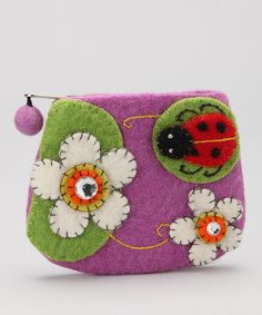 Take a look at this Lavender Ladybug Coin Purse by Bubblegum Diva on #zulily today!