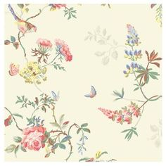 Birds & Roses Wallpaper by Cath Kidston - mydecomarketplace.com #mydecoWedding