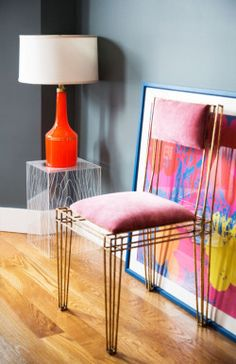 Browse exclusive Pink Room Ideas photos to make your house a home at Domino. Decorate your space with inspiring interior designed rooms, styles and colors. Chair Design, Furniture Design, Interior Styling, Interior Decorating, Decorating Ideas, Decor Ideas, Living Room Designs, Living Spaces, Living Room Grey