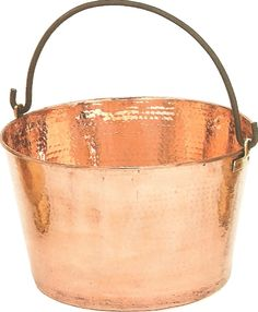 """instead of doing a wish tree or advice books - ask people to write something for your """"Marriage Bucket List"""" and they can put them in a """"copper bucket! Copper Tub, Copper Pots, Copper Kitchen, Kitchen Items, Old And New, Cast Iron, Pewter, Tea Pots, Bronze"""