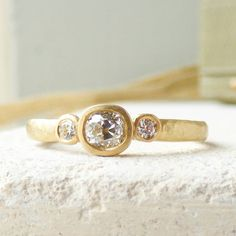 eos 18ct recycled gold diamond engagement ring by shakti ellenwood | notonthehighstreet.com