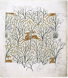 The Deer in the Forest, Charles Voysey,1918