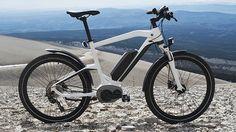 BMW Cruise e-bike Deze tweewieler wordt aangedreven door een Bosch batterij van 250 watt. Dat is wel lekker, want zo cruise jij op je dooie gemak met kilometertje of 25 in 't uur over de heuvels in de duinen. Zonder ook maar een zweetdruppeltje te produceren. Prijskaartje bedraagt $4.100,-.
