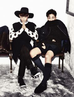 Minho and Key...wow....they're cute...but those outfits....