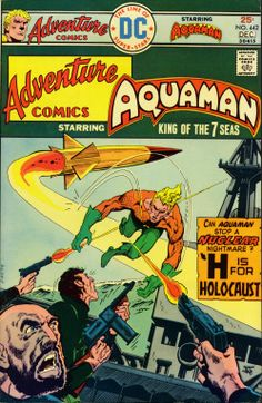 Cover art by Jim Aparo. Adventure Comics This bronze age comic appears to be in Fine (FN condition. Old Comic Books, Comic Books For Sale, Vintage Comic Books, Comic Book Artists, Comic Book Covers, Vintage Comics, Dc Comics, Aquaman Comics, Nostalgia