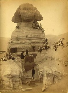 American baseball players at the Sphinx - 1888