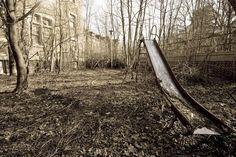slide at an old children's asylum