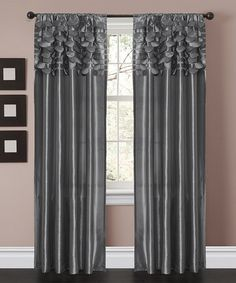 take a look at this gray circle curtain panel set of two by lush dcor