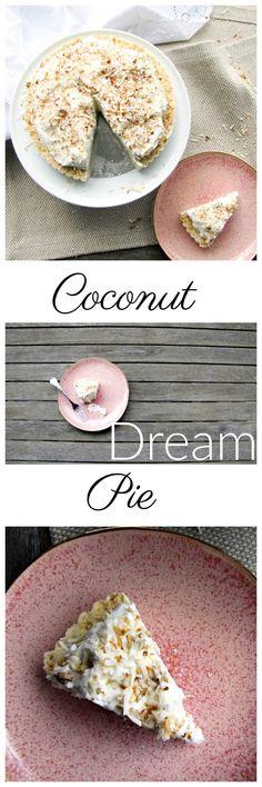 JoJo's Coconut Dream Pie via Best Coconut Cream Pie, Coconut Dream, Camembert Cheese, Yummy Food, Simple, Sweet, Recipes, Candy, Delicious Food