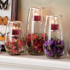 be creative with Partylite! I like it because I can change the stuff inside like some paper mints for Christmas with red or white votives on top!