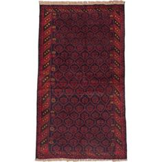 Shop for eCarpetGallery Herati Blue and Red Wool Hand-knotted Rug (3'6 x 6'2). Ships To Canada at Overstock.ca - Your Online Home Decor Outlet Store!