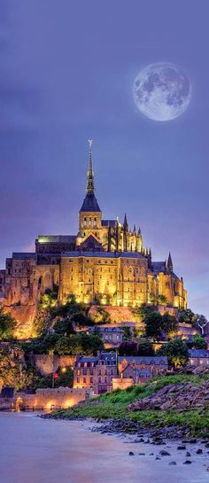 Get a closer look at the Mont Saint Michel in France.