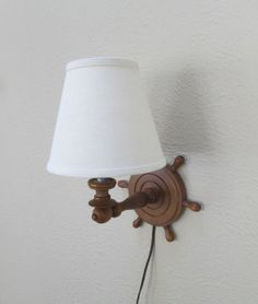 Nautical Wall Lamp by goodvintage on Etsy, $26.50