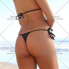Women'S Brazilian Tie Sides G String Bikini Swimsuits Bottom Panties Underwear