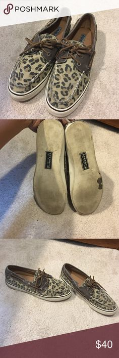 Leopard sperrys Have been worn a few times but still in excellent condition! Sperry Top-Sider Shoes
