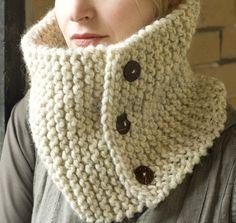 PATTERN Knittles 3 Button Neckwarmer by knittles on Etsy