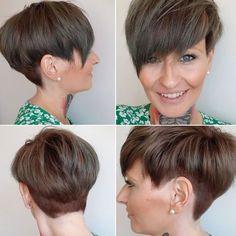 schöne kurze Frisuren in Brauntönen