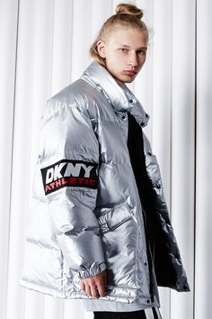 DKNY for Opening Ceremony Athletic Tag & Logo Puffer Jacket
