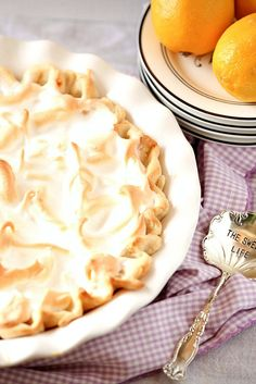 This was the best pie I've ever had! Lightened Lemon Meringue Pie Low Calorie, Low Fat Dessert perfect for Easter or  a Picnic