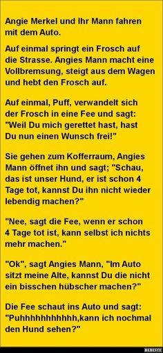 Angie Merkel und Ihr Mann fahren mit dem Auto..