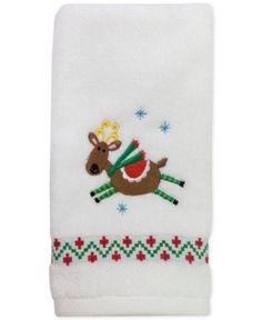 """Dena Flying Reindeer 27"""" x 50"""" Bath Towel - Multi"""