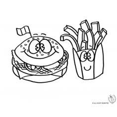 Disegno Di Biscotto Da Colorare Disegni Di Alimenti Da Colorare