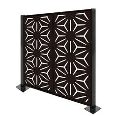H x 4 ft. W Metal Privacy Screen Laser Cut Screens, Laser Cut Panels, Cnc Woodworking, Metal Fence, Fence Design, Galvanized Steel, Home Living Room, Farm House, Connect