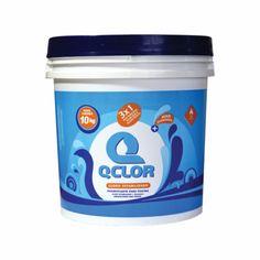 Cloro Balde 10kg + Econômico Qclor é um produto à base de Dicloroisocianurato de Sódio destinado à desinfecção de água de piscina. Apresentam características físico-químicas superiores a quaisquer outros componentes clorados, tais como: Hipoclorito de