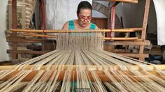 The loom Chiara Vigo weaves on has been in her family for more than 200 years (Credit: Credit: Eliot Stein)