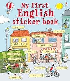 """""""My first English sticker book"""" at Usborne Children's Books Learning Spanish, Kids Learning, Biking With Dog, French Pictures, New Sticker, Sticker Books, English Book, Stickers, Learn French"""