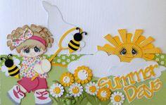 2-12x4.5 Premade Borders Summer Days Boy Girl Paper Piecing Albums danderson651