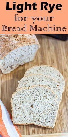 Bread Machine Rye Bread Recipe, Bread Machine Recipes Healthy, Best Bread Machine, Bread Maker Recipes, Easy Bread Recipes, Banana Bread Recipes, Caraway Rye Bread Recipe, Starter Recipes