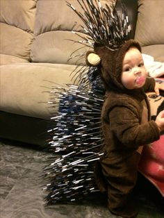 Just a little porcupine. #porcupinecostume #zipties #diycostume #firsthalloween #costume #  sc 1 st  Pinterest & Baby Porcupine - Halloween Costume Contest at Costume-Works.com ...