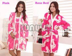 Women's Winter Soft Coral Warm Fleece Robe Dressing Gowns Bath Robe +Tank Dress long-sleeve  ...