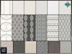 6 wallpaper-carpet sets by Mabra at Arte Della Vita via Sims 4 Updates Check more at http://sims4updates.net/build-mode/6-wallpaper-carpet-sets-by-mabra-at-arte-della-vita/
