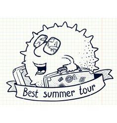 Best summer tour vector on VectorStock