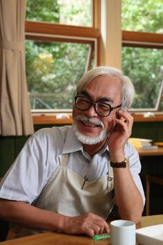 Hayao Miyazaki - Such an amazing man and artist. My children will grow up with magical worlds he's created!