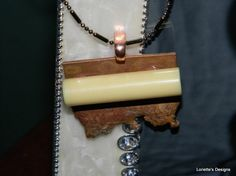 One Bar Copper Necklace Repurposed Materials by RustIsVogue, $32.00