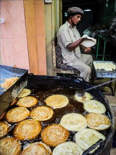 Street Food frying - Pakistan   - Explore the World with Travel Nerd Nici, one Country at a Time. http://TravelNerdNici.com