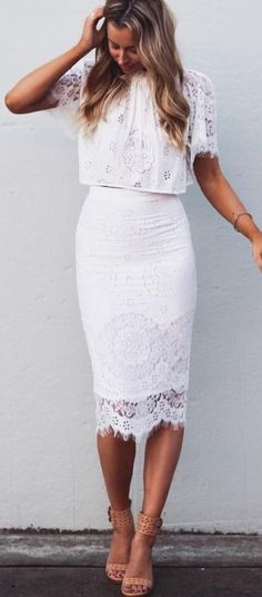 #summer #fblogger #outfits | White Lace Perfection
