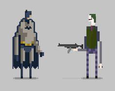 Resultado de imagem para pixel art batman