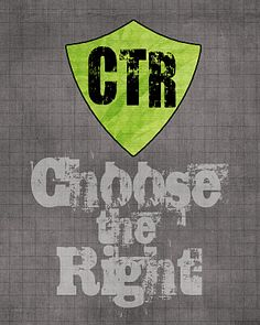 "Free LDS Printable 2012 Primary Theme, ""Choose the Right."""
