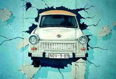 grafitti de la trabant - mur de berlin