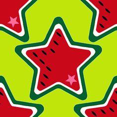 FruitLoop Melon Stars- Design bienvenido colorido @Stoffschmie.de