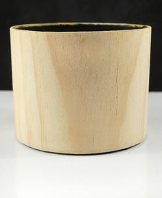 Natural Wood Round Vase Cover