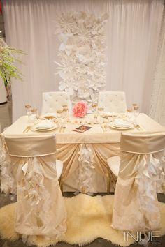 Gold and pink table decor   Bridal Extravaganza of Atlanta