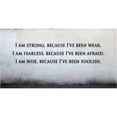 I AM STRONG, FEARLESS & WISE